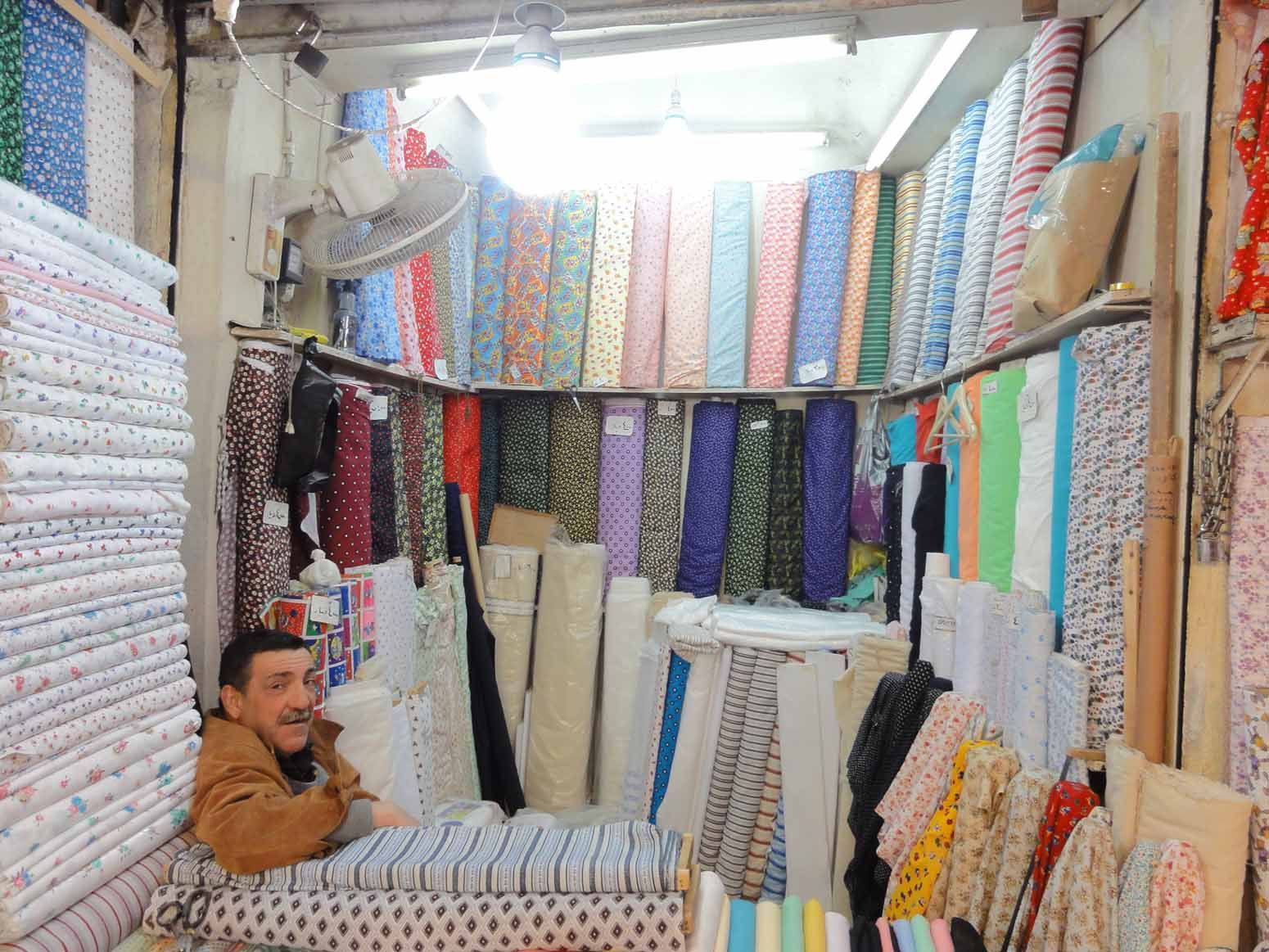 Fabric in the main souq
