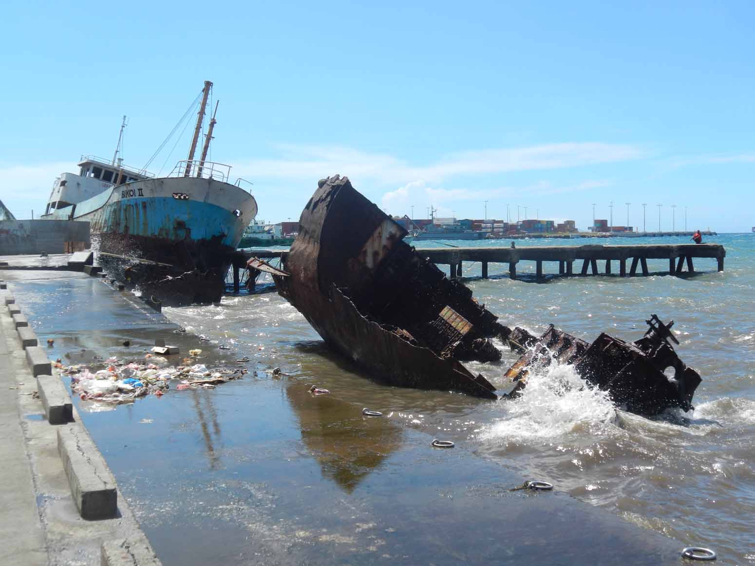 Fishing boats come a cropper in Honiara